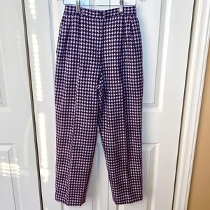 Pendleton Pink & Navy Houndstooth High waist Pants